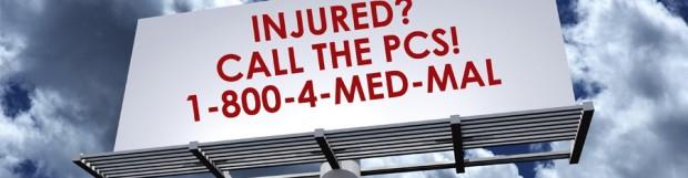 Injured? Dial 1-800-4-MED-MAL